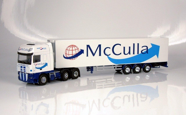 McCullaDaf 95 XF with reefer trailer